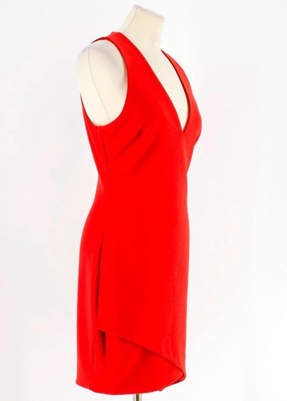 Elizabeth and James Red Asymmetric Sheath Midi Dress US 4 For Sale 5