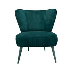 Elizabeth Armchair with Silk Velvet and Polished Brass