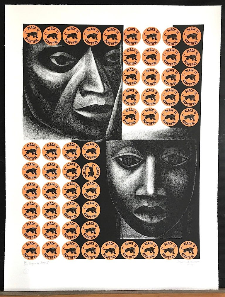 NEGRO ES BELLO II Signed Lithograph, Elizabeth Catlett For Sale 2