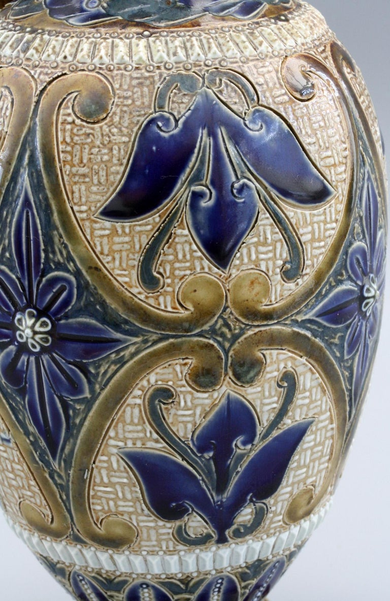 Elizabeth Fisher for Doulton Lambeth Art Pottery Jug Dated 1880 For Sale 5