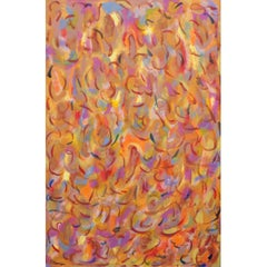 Elizabeth Freire Serpentina Carnaval Abstract Modern Painting