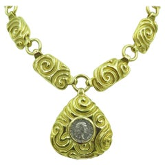 Elizabeth Gage Gold and Ancient Coin Necklace