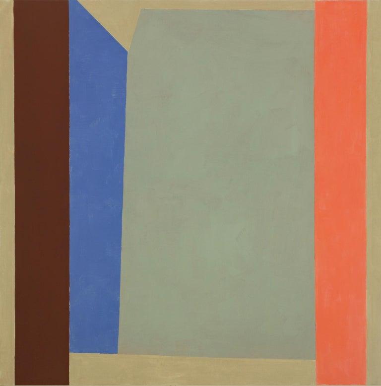 Elizabeth Gourlay, B209B, 2019, flashe on linen, 40 x 40, inches - Painting by Elizabeth Gourlay