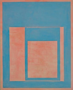 Elizabeth Gourlay, cyanrose, Minimalist Abstraction, flashe, 2017, 50 x 40 in