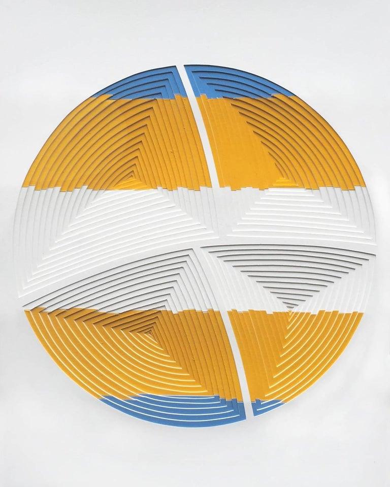 Blue Yellow Stripe-In
