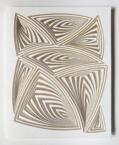 Cut with Surgical Scalpel on 2 ply Museum Board: 'Natural'