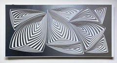 Cut with Surgical Scalpel on 2 Ply Museum Board: 'Silver Black'