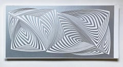 Cut with Surgical Scalpel on 2 ply Museum Board: 'Silver In'
