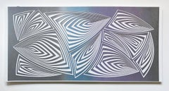 Cut with Surgical Scalpel on 2 ply Museum Board: 'Silver Purple'