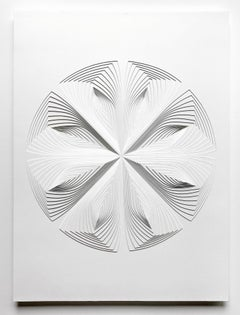Free Hand Cut Work on 2 ply museum board: 'Multi-Circle Reflection'