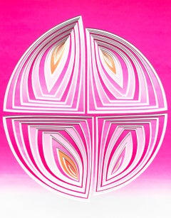 Fushia Orange Circle- In