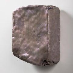 Elizabeth Harris, Platinum, Encaustic and Pigment on Wood, 2017