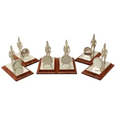 Elizabeth II Set of Six Sterling Silver Menu Holders