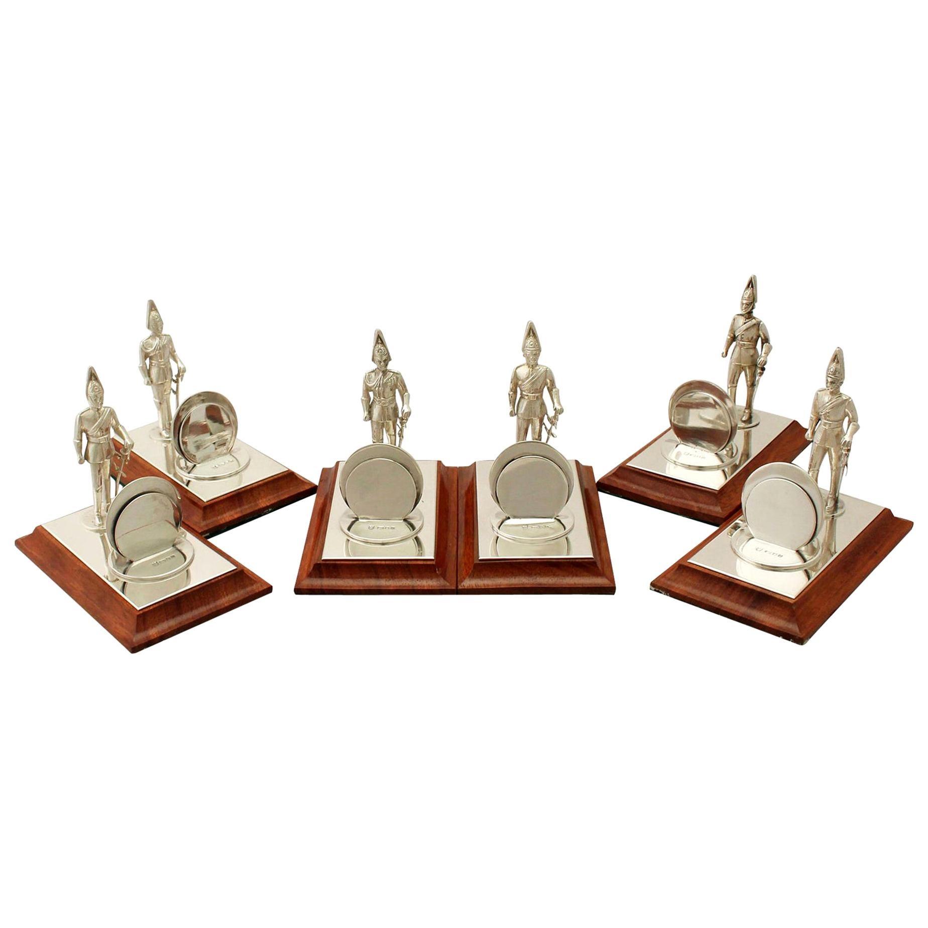 Elizabeth II Set of Six Sterling Silver Menu Holders