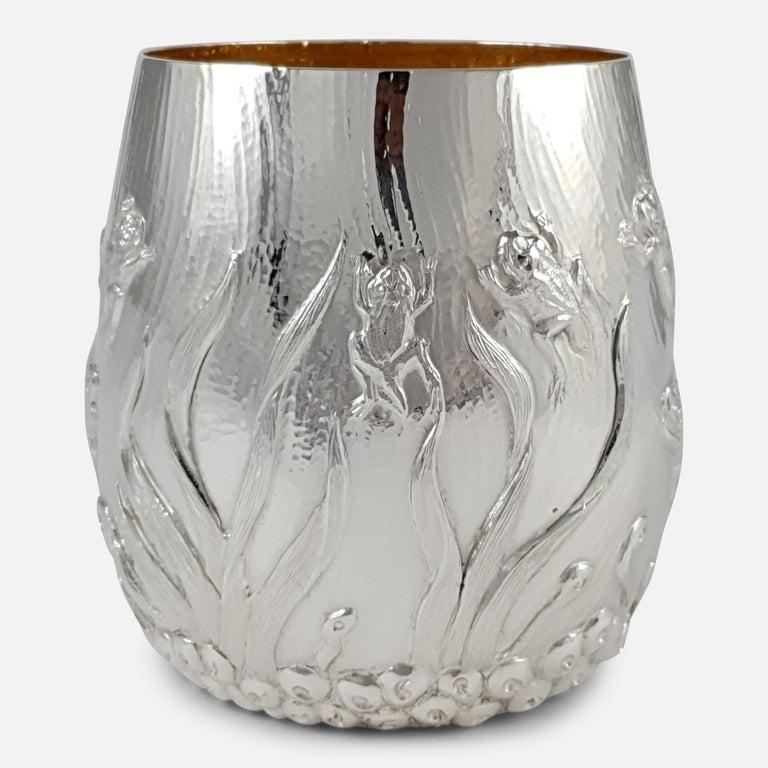 Elizabeth II Sterling Silver Beaker, Garrard & Co, London, 1998 For Sale 5