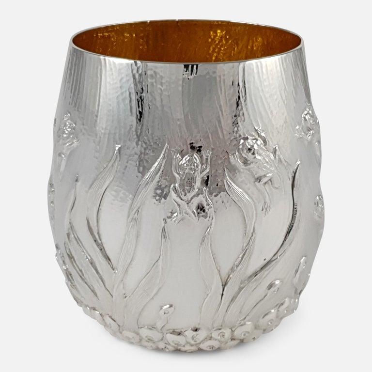 Modern Elizabeth II Sterling Silver Beaker, Garrard & Co, London, 1998 For Sale