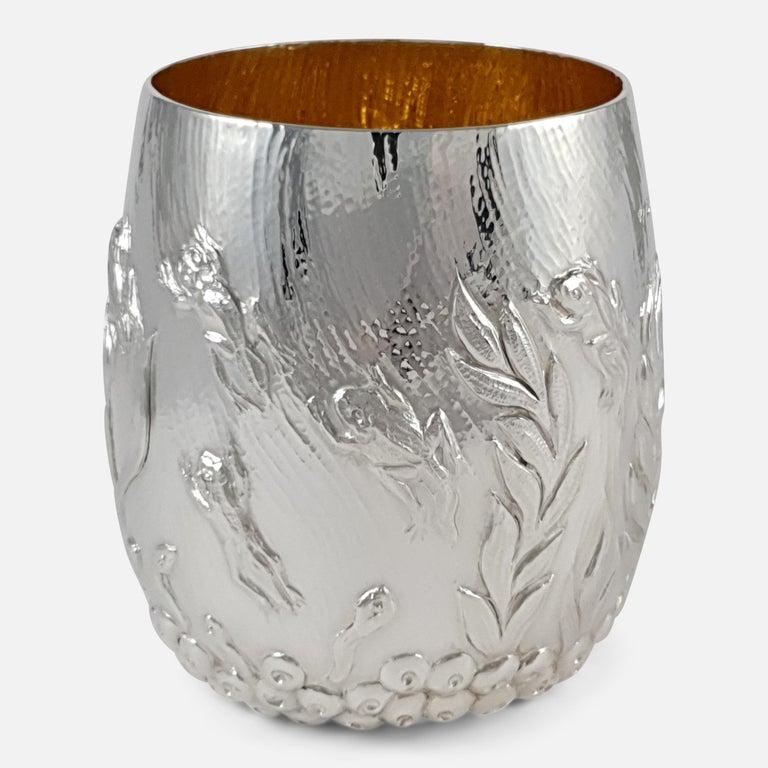 British Elizabeth II Sterling Silver Beaker, Garrard & Co, London, 1998 For Sale