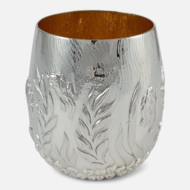 Late 20th Century Elizabeth II Sterling Silver Beaker, Garrard & Co, London, 1998 For Sale