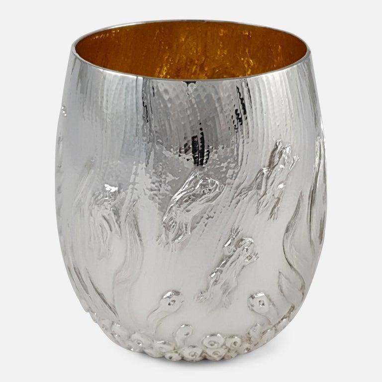 Elizabeth II Sterling Silver Beaker, Garrard & Co, London, 1998 For Sale 1