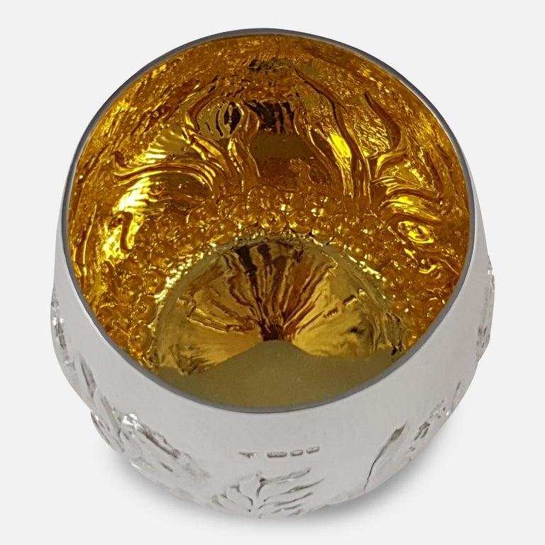 Elizabeth II Sterling Silver Beaker, Garrard & Co, London, 1998 For Sale 3