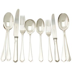 Elizabeth II Sterling Silver Canteen of Cutlery for Eight Persons