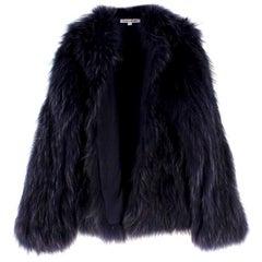 Elizabeth & James Midnight Blue Fur Jacket SIZE UK XS / US 4