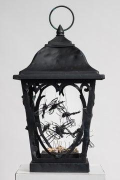 Lampost Top Sculpture with Dragon Flies: 'Danse Macabre'