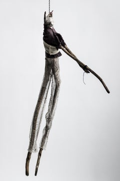 Sculpture of hare hanging form chain: 'Children 5'