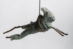 Sculpture of hare hanging from chain: 'Children 9'