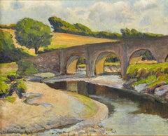 The Bridge of Wool, River Camel, Wadebridge, Cornwall. Original Painting. Birch
