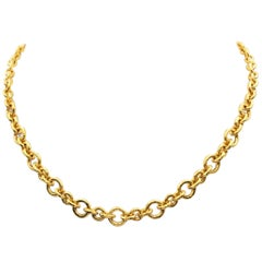 Elizabeth Locke 19 Karat Gold Toggle Necklace