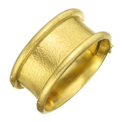 "Elizabeth Locke 19 Karat Yellow Gold ""Amulet"" Cuff Bracelet"