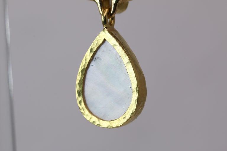 Elizabeth Locke Blue Venetian Glass Intaglio Earrings For Sale 4