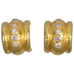 Elizabeth Locke Diamond Hoop Earrings