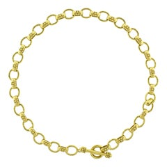 Elizabeth Locke Hammered Oval Link Necklace