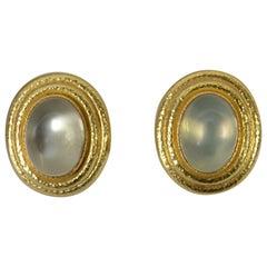 Elizabeth Locke Moonstone Earrings