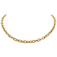 Elizabeth Locke 'Orvieto' Hammered Link Necklace