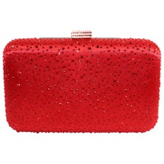Elizabeth Mason Couture Red Pave Rhinestone Evening Clutch