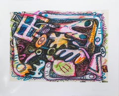 Abstract Expressionist Print by Elizabeth Murray