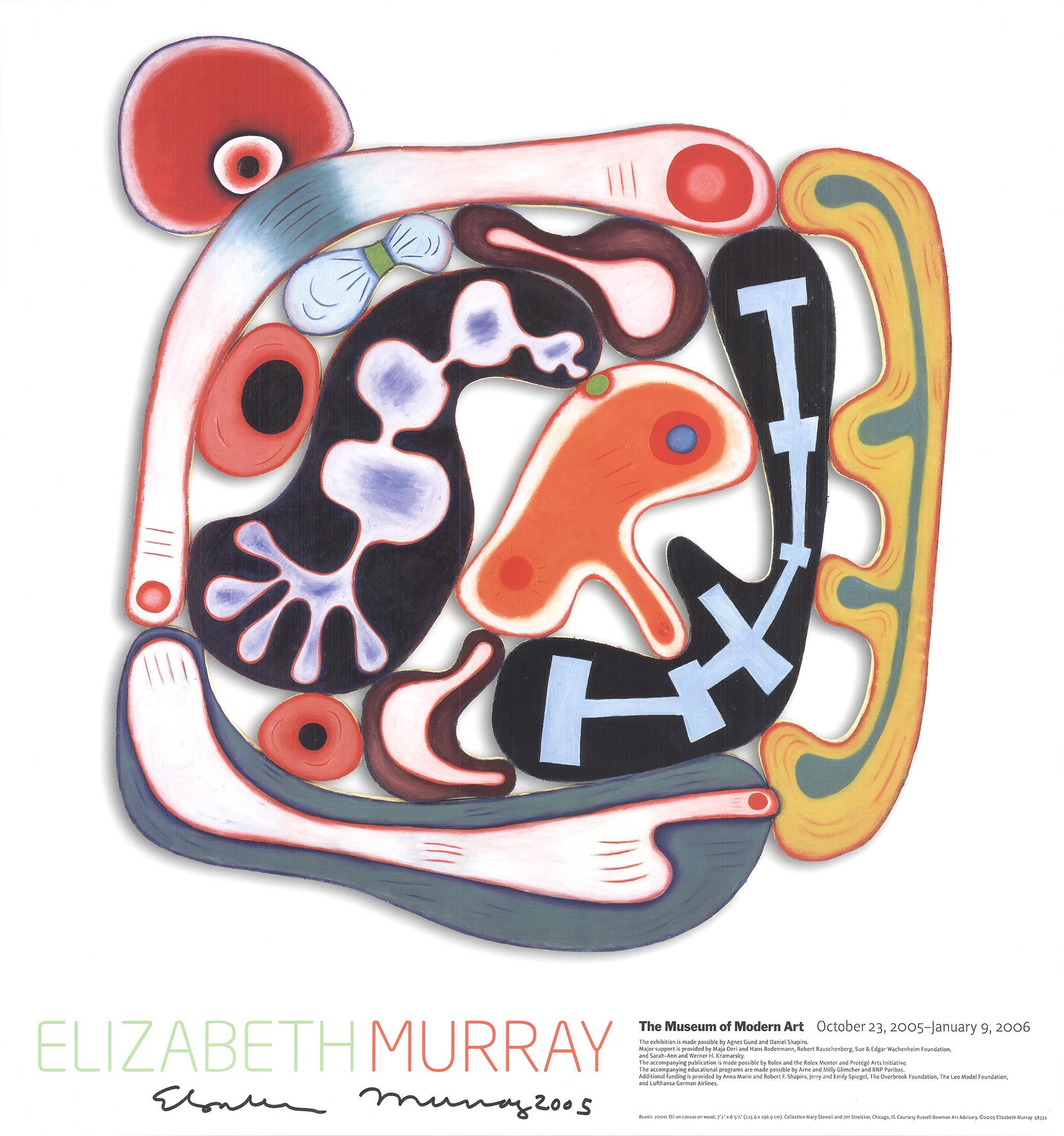 "Elizabeth Murray-Bowtie-32"" x 30""-Offset Lithograph-2005-Abstract-sculpture"