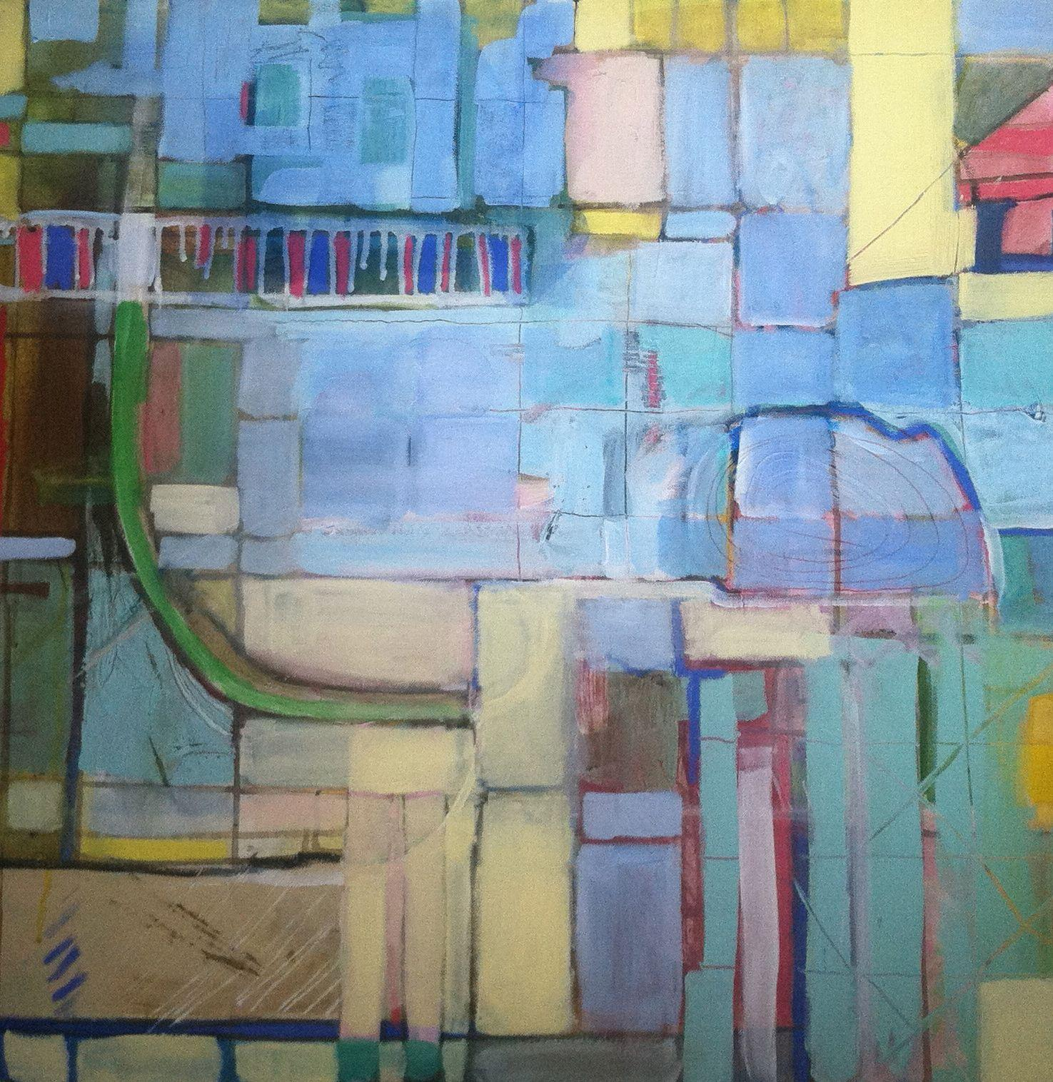 Adult Swim, Painting, Acrylic on Canvas