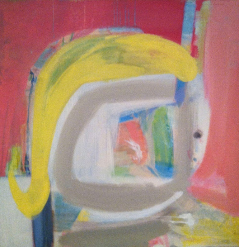 Elizabeth Nagle Abstract Painting - Girl With A Curl, Painting, Acrylic on Canvas