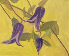 Clematis on Yellow Ground