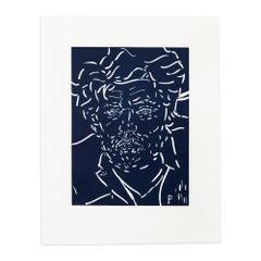 Peter, Linocut Portrait, Contemporary Art