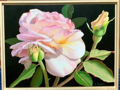 American Realist still life of Pink and Yellow Roses