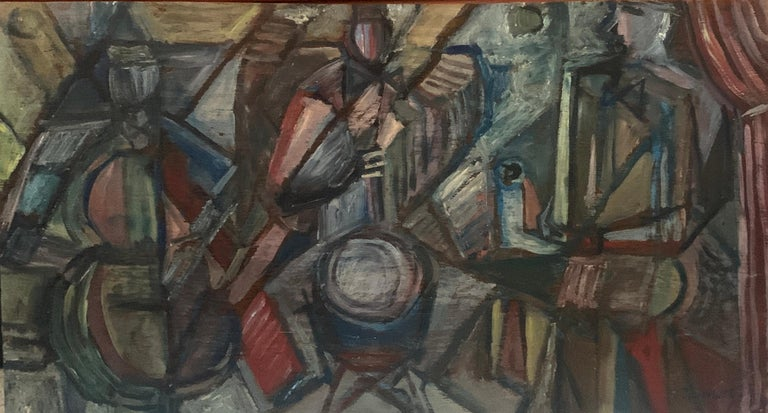 Cubist Jazz Band - Painting by Elizabeth Ronget