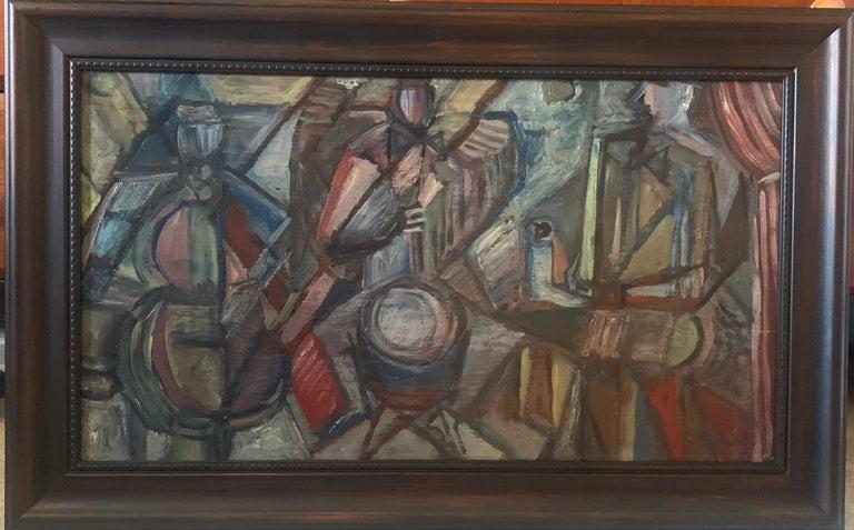 Elizabeth Ronget Figurative Painting - Cubist Jazz Band