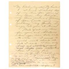 Elizabeth Taylor 1970s Handwritten Love Letter to Richard Burton