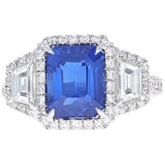 Elizabeth Taylor, House of Taylor 4.50 Carat Sapphire and .96 Carat Diamond Ring