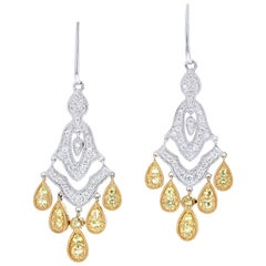 Elizabeth Taylor, House of Taylor, Yellow Sapphire and Diamond Earrings